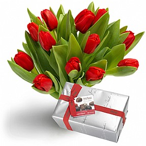 Red Tulips and Chocolates