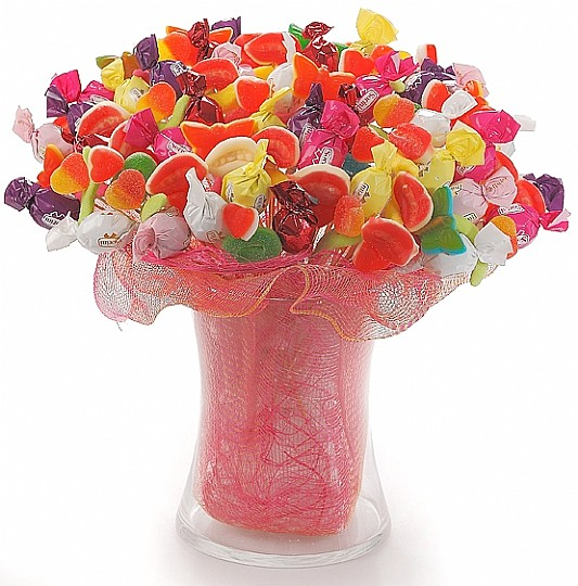 Image result for candy and flower bouquet